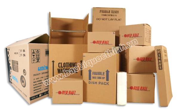 Các loại bao bì thùng hộp giấy carton theo loại giấy phổ biến
